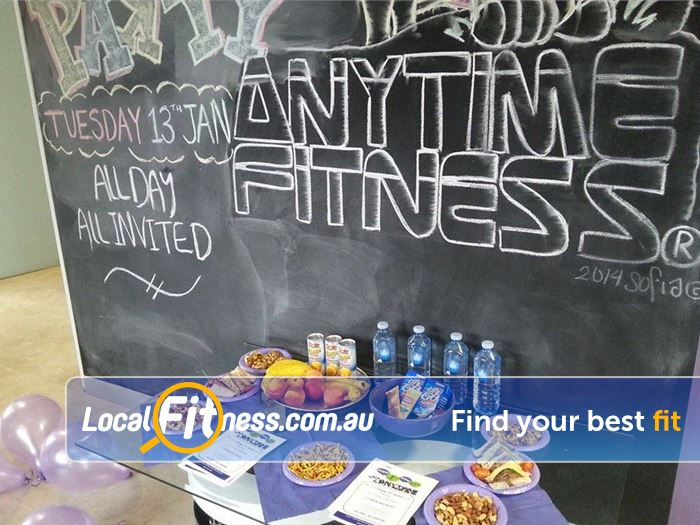 Anytime Fitness Mont Albert North Gym Fitness Complimentary treats for our