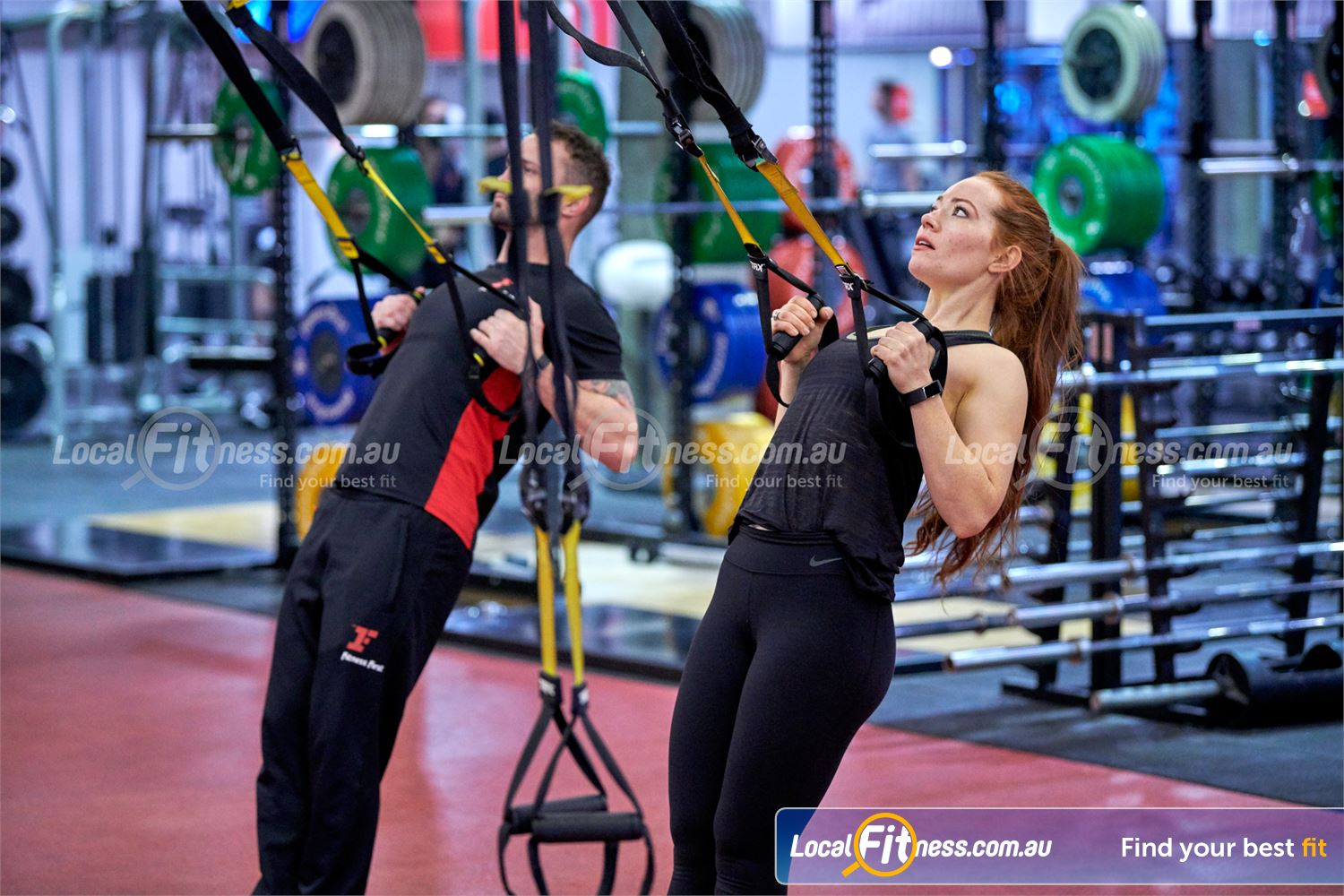 Fitness First Near Beaumont Hills Castle Hill personal trainers can help you improve your core with TRX.