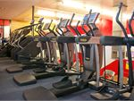 Re-Creation Health Clubs Braeside Gym Fitness Rows of cardio over 2 levels.