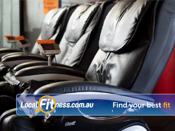 Re-Creation Health Clubs Near Braeside Indulge in luxury with our massage chairs.