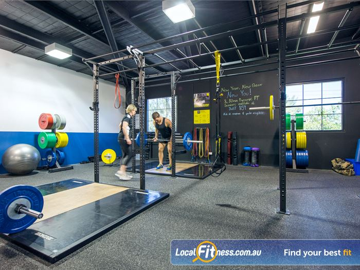 Goodlife Health Clubs Gym Bedford    The fully equipped Mount Lawley free-weights gym area.