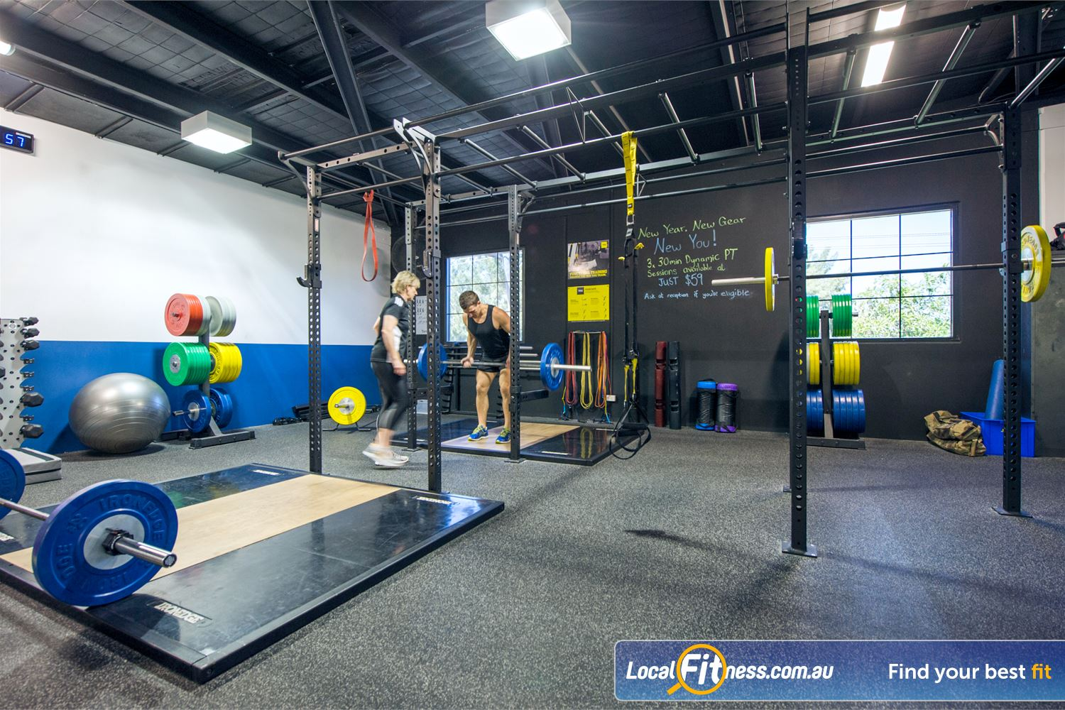 Goodlife Health Clubs Mount Lawley The fully equipped Mount Lawley functional training zone.