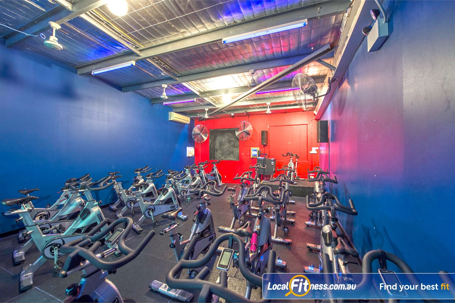 Goodlife Health Clubs Mount Lawley Dedicated Mount Lawley spin cycle studio.