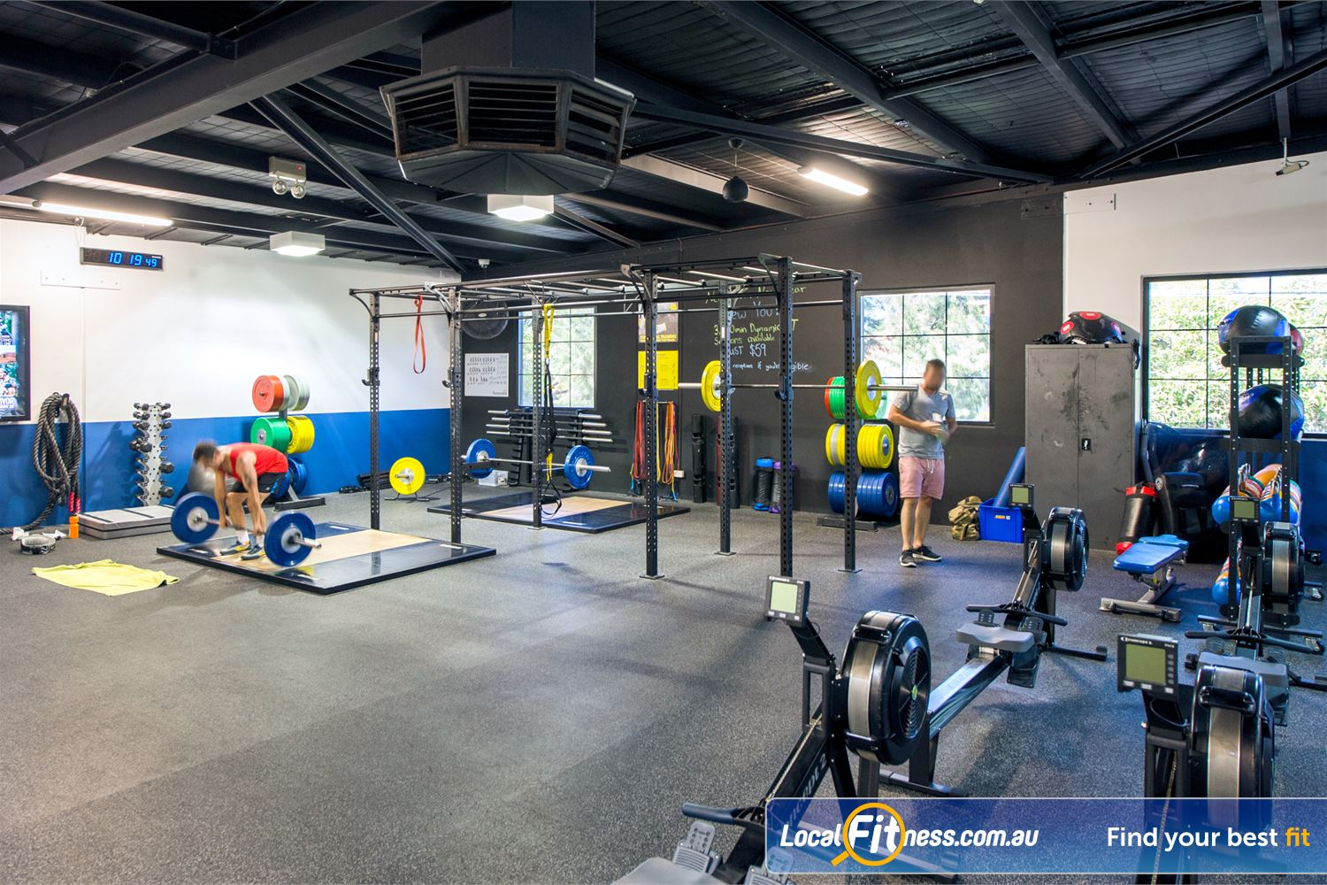 Goodlife Health Clubs Mount Lawley Fully equipped functional training area with strength matrix and lifting platforms.