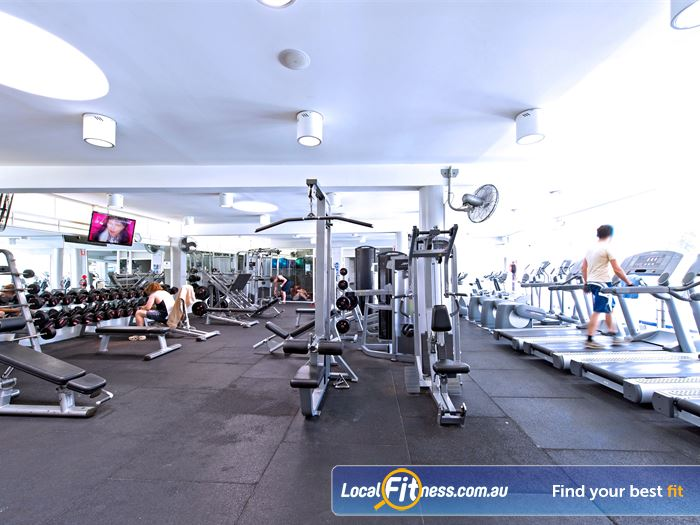 Victoria Park Pool Gym Newtown  | A comprehensive range of plate-loading and pin-loading equipment.
