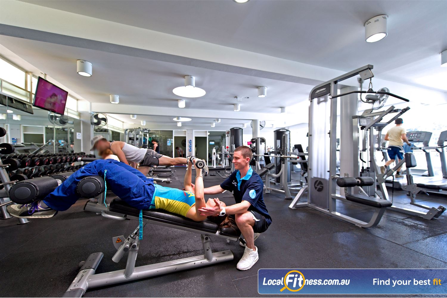 Victoria Park Pool Near Marrickville Our gym instructors can teach you the benefits of free-weight training.