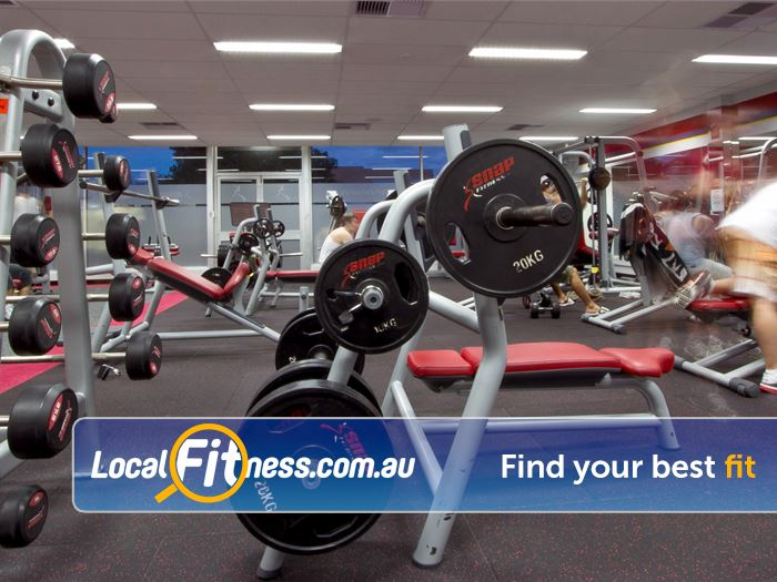Snap Fitness East Victoria Park Our free-weights area caters for all levels of fitness.