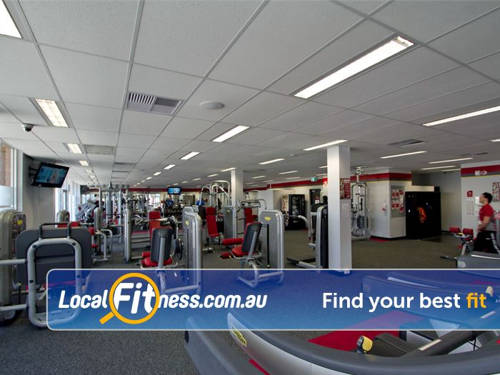 Snap Fitness Near Bentley South Fully equipped with pin-loading and plate-loading machines.