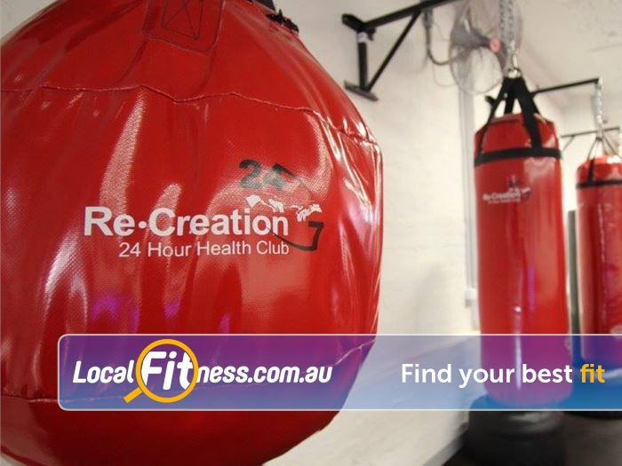 Re-Creation Health Clubs Caulfield North Gym Fitness Boxing bags, ropes, jump boxes