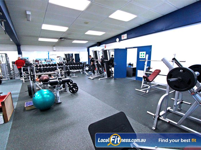 East Keilor Leisure Centre Gym Sunshine  | The gym area includes dumbbells, barbells and more.