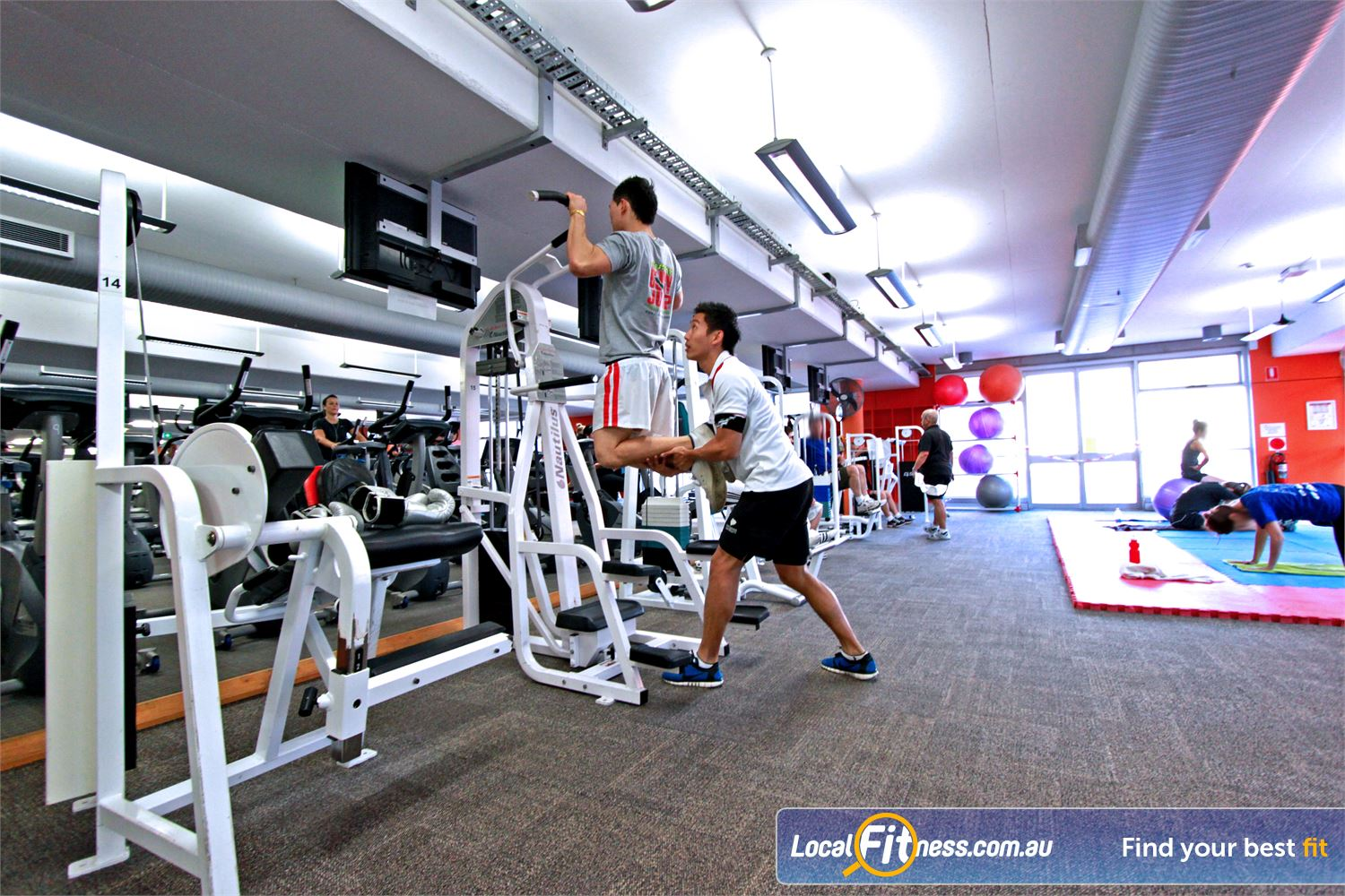 Macquarie University Sport & Aquatic Centre Near North Ryde Our Macquarie University gym is fully equipped with a wide selection of easy to use pin-loading machines.