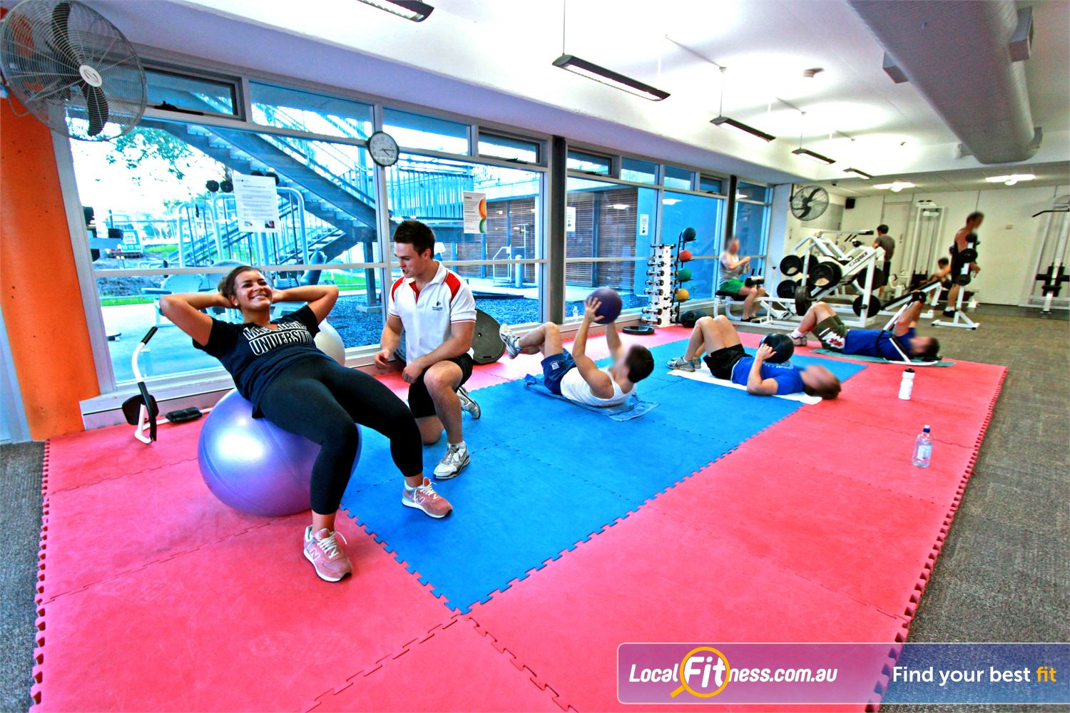 Macquarie University Sport & Aquatic Centre Near Marsfield Our Macquarie University gym staff can help you with your stretching.