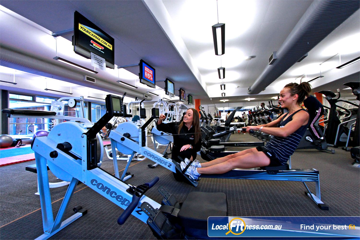 Macquarie University Sport & Aquatic Centre Macquarie Park Vary your workout with a variety of treadmills, cross-trainers, rowers and more.