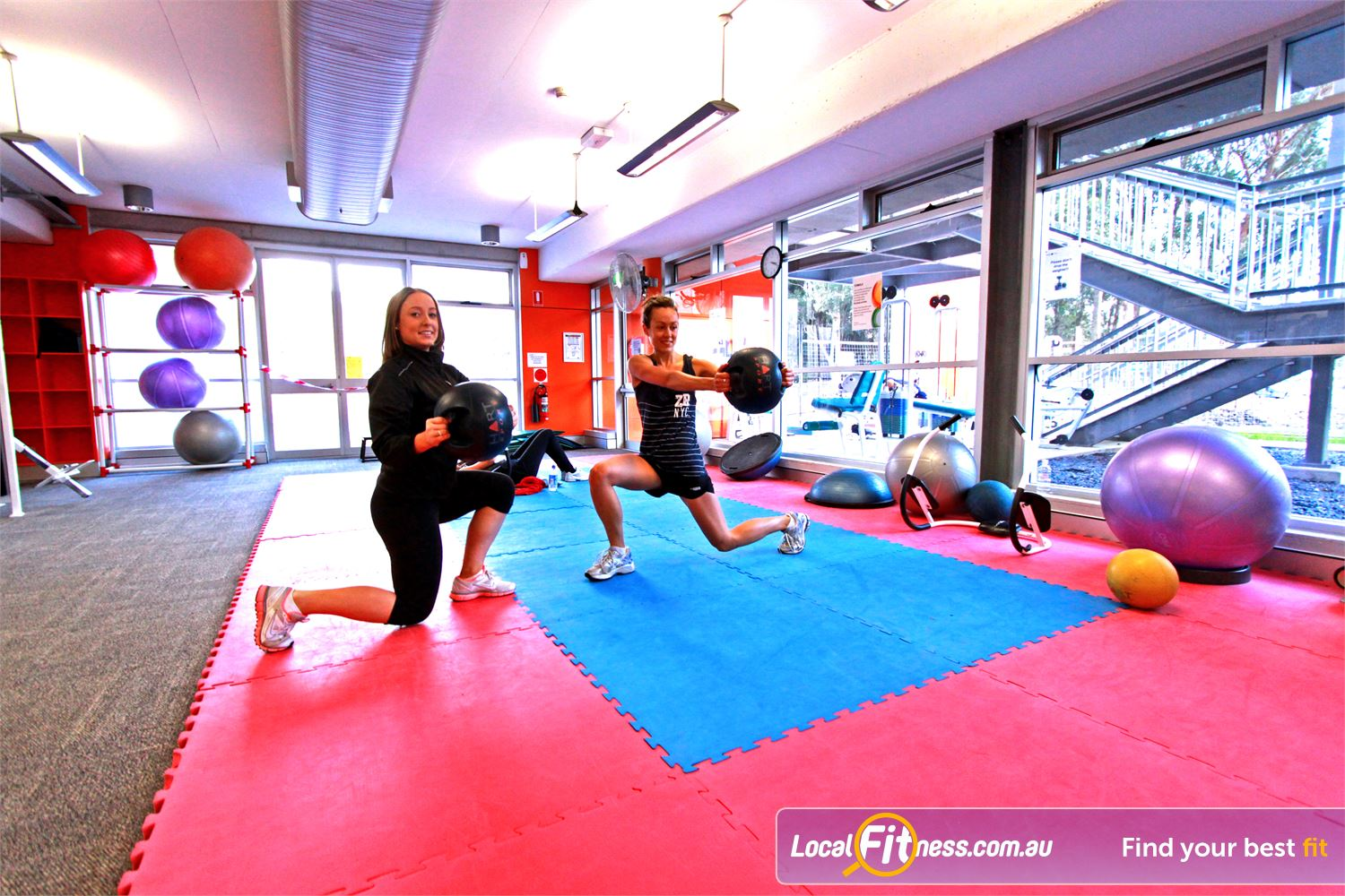 Macquarie University Sport & Aquatic Centre Near Marsfield Our Macquarie University gym provides a dedicated ab and stretching area.