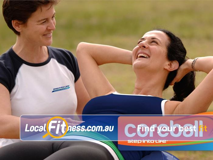 Step into Life Ivanhoe Core strengthening with our Ivanhoe outdoor fitness programs.