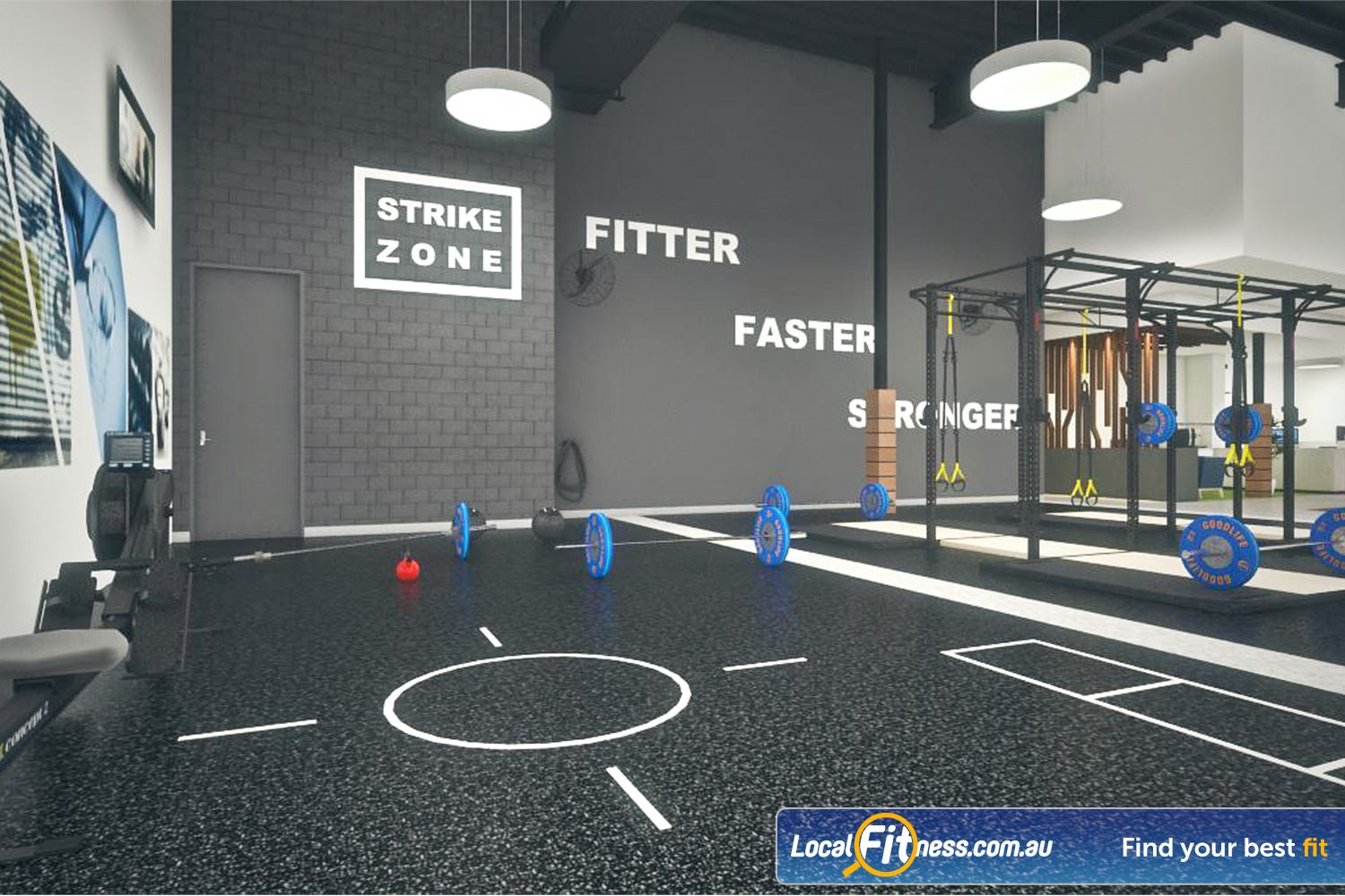 Goodlife Health Clubs Success The spacious functional training zone.