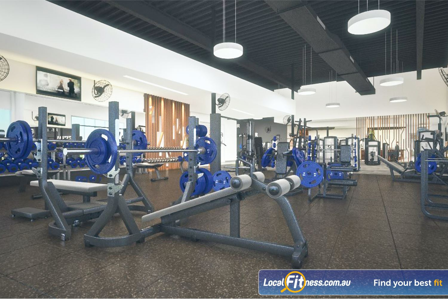 Goodlife Health Clubs Success Plenty of benches, dumbbells, barbells and more.