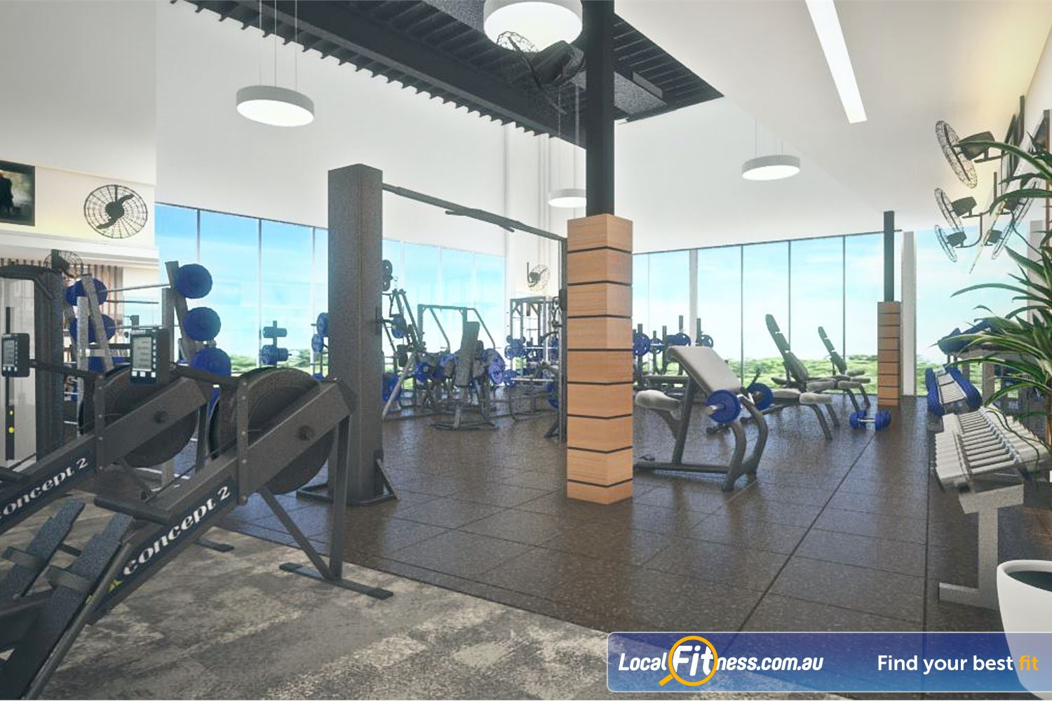 Goodlife Health Clubs Success Sweeping views from our free-weights area.