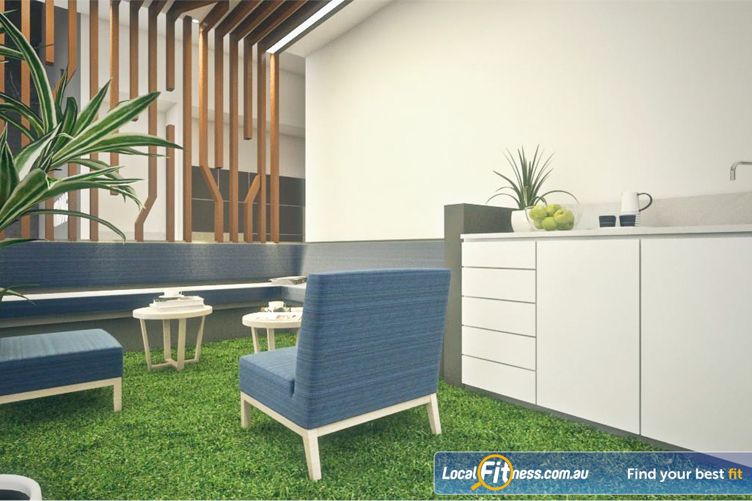 Goodlife Health Clubs Near Yangebup Comfortable lounges and a chill out area for members and guests.