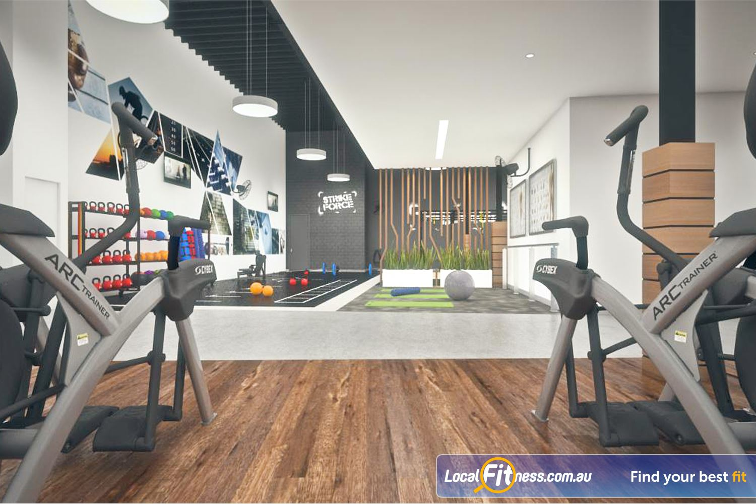 Goodlife Health Clubs Near Wattleup Try the new Cybex Arc trainers with LCD TV.