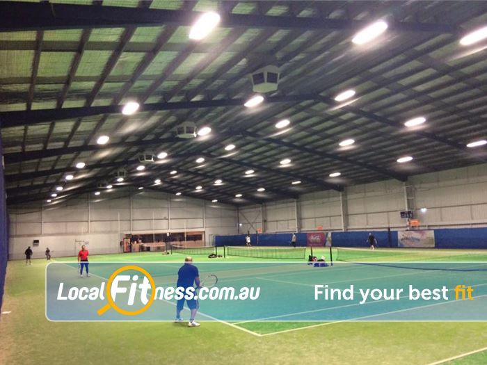 Leisure City Near South Morang 5 indoor Epping tennis courts for casual and competition hire.