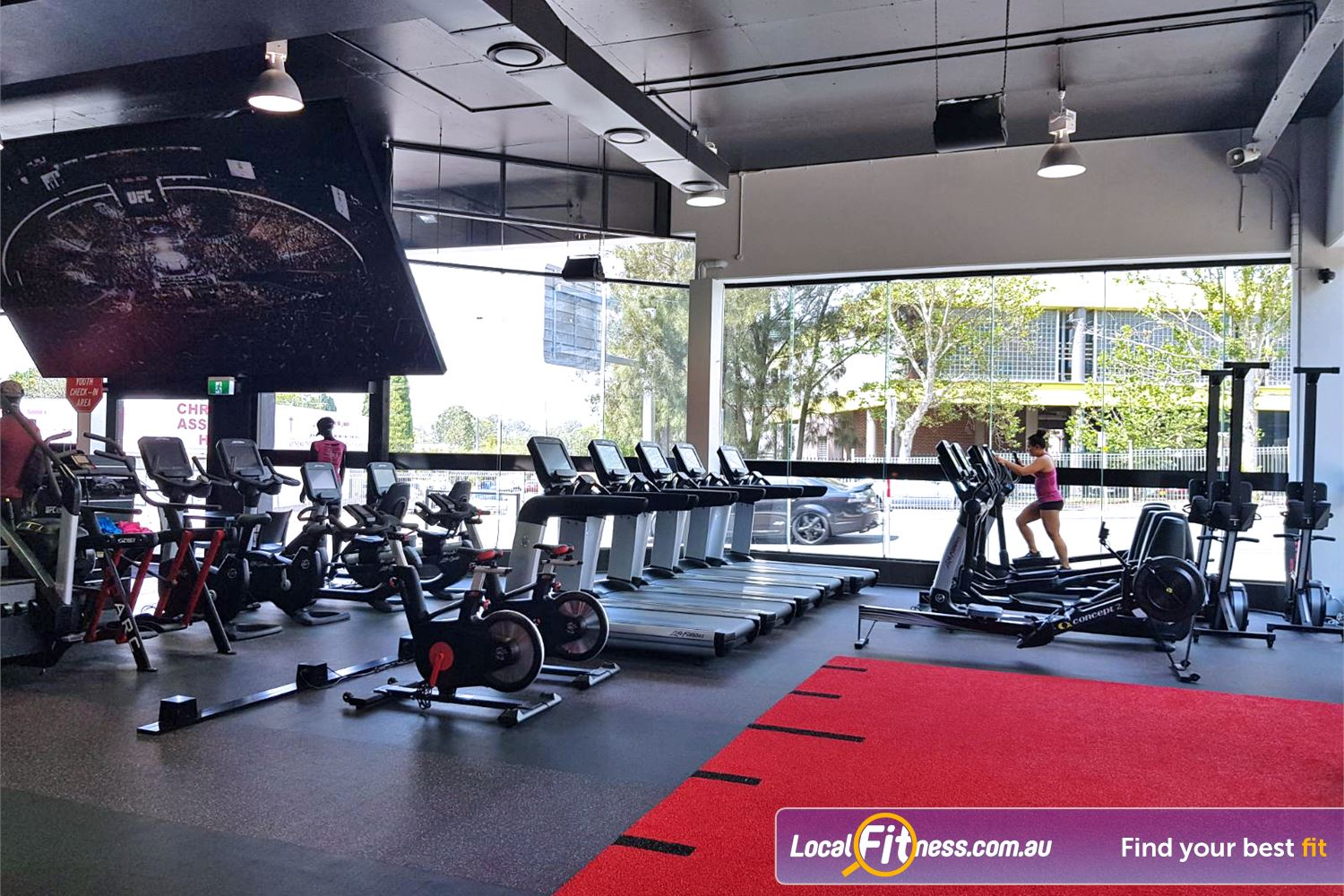 UFC Gym Near Huntingwood Fully equipped cardio area with treadmills, bikes, cross-trainers and more.