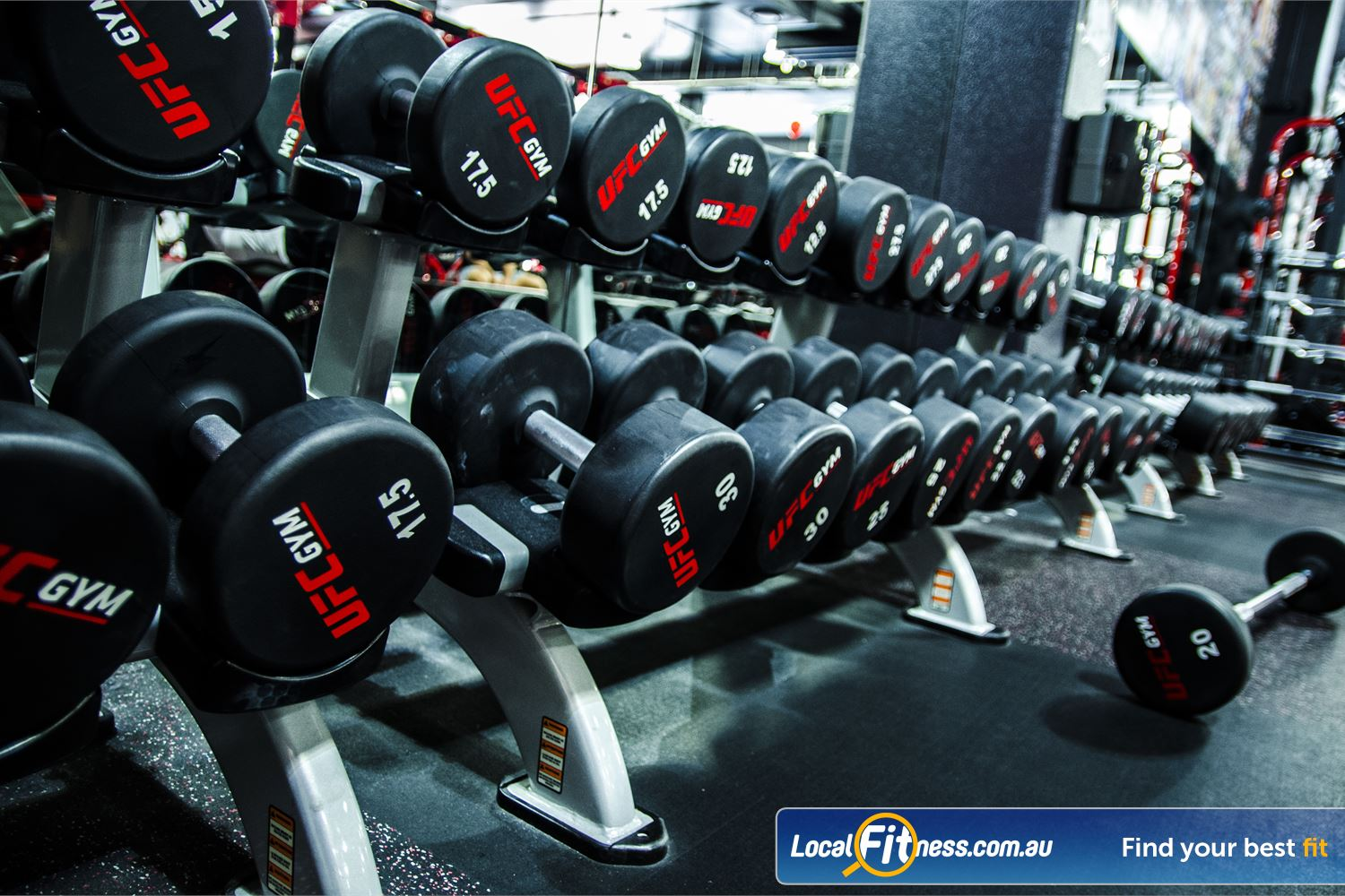 UFC Gym Near Doonside Train like a UFC athlete and get strong in our free-weights area.