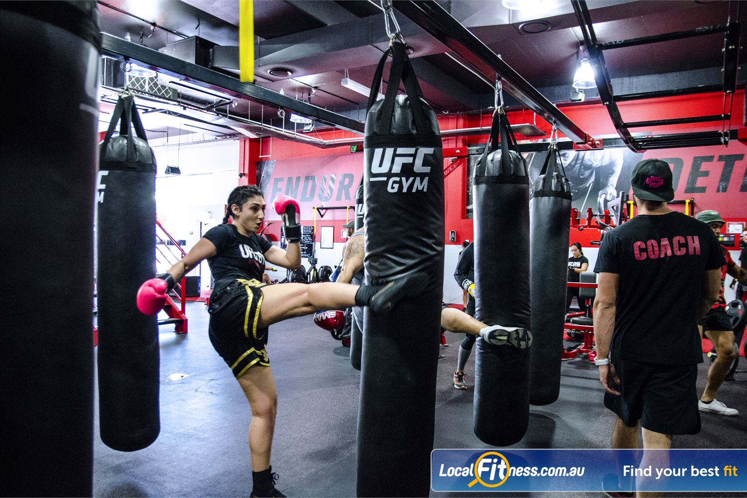 UFC Gym Blacktown Dedicated Blacktown boxing arena for our range of striking classes.