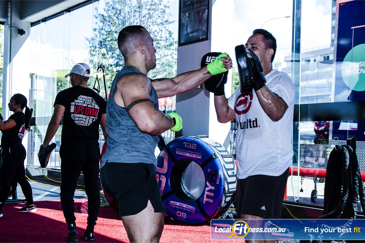UFC Gym Blacktown Our Blacktown personal trainers can take your training to the next level.