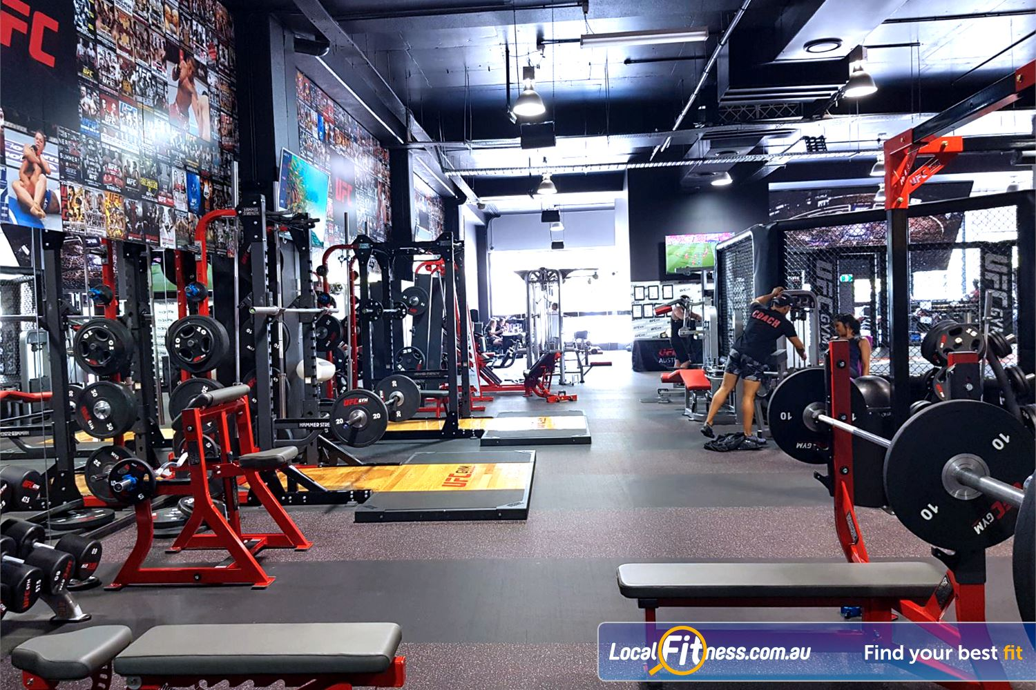 UFC Gym Blacktown Our Blacktown gym includes state of the art Life Fitness and Hammer Strength.