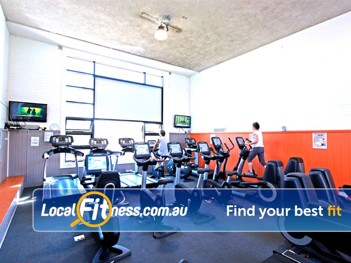 Caulfield Recreation Centre Gym Moorabbin  | The bright cardio area in Caulfield.