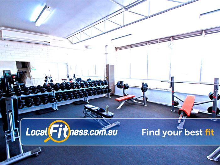 Caulfield Recreation Centre Near Caulfield Our Caulfield gym includes a fully equipped free-weights area.
