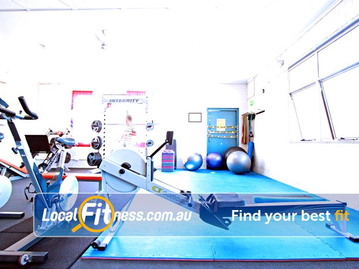 Caulfield Recreation Centre Near Caulfield Fitballs, stretching mats in our ab and stretching area.