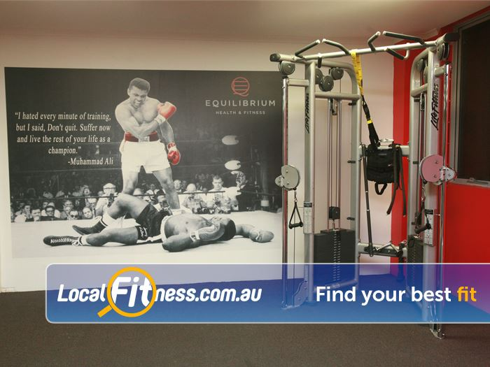 Equilibrium Health & Fitness Gym Box Hill South  | Get inspired by our Muhammad Ali mural.