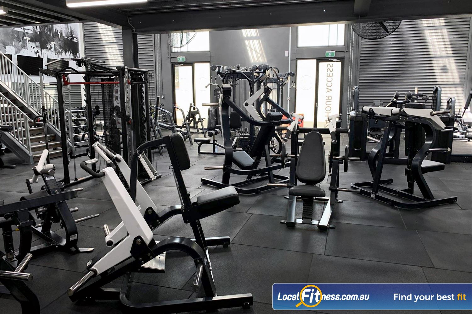 Weight of the World Fitness Near Brooklyn Our Altona North gym includes a full range of plate-loading machines.