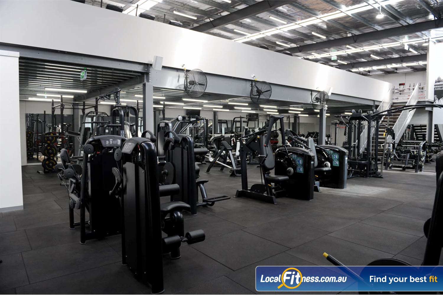Weight of the World Fitness Altona North Brand NEW state of the art Technogym pin-loading machines.