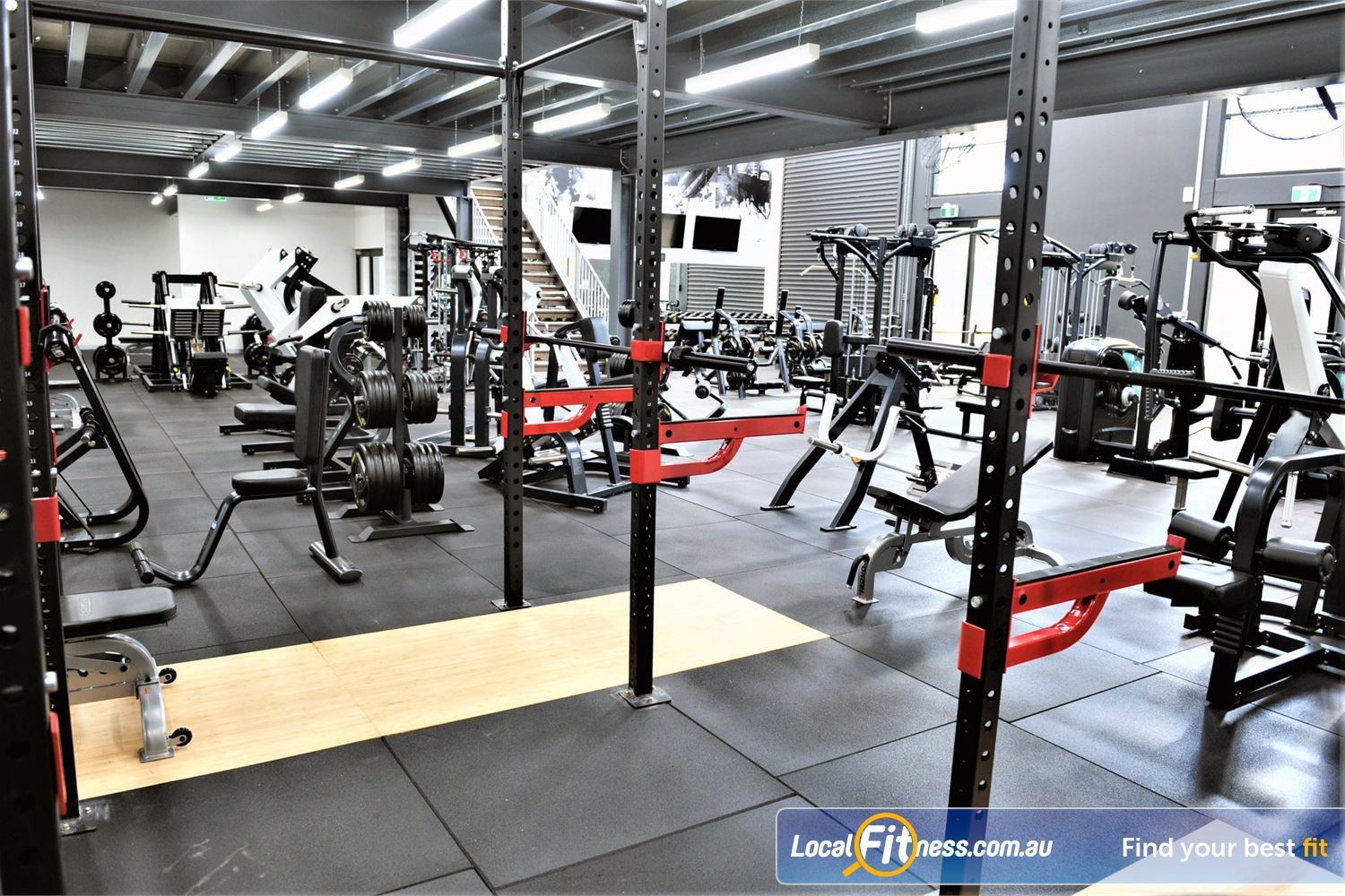 Weight of the World Fitness Near Altona Meadows Strength training wiht our lifting racks and deadlifting platforms.