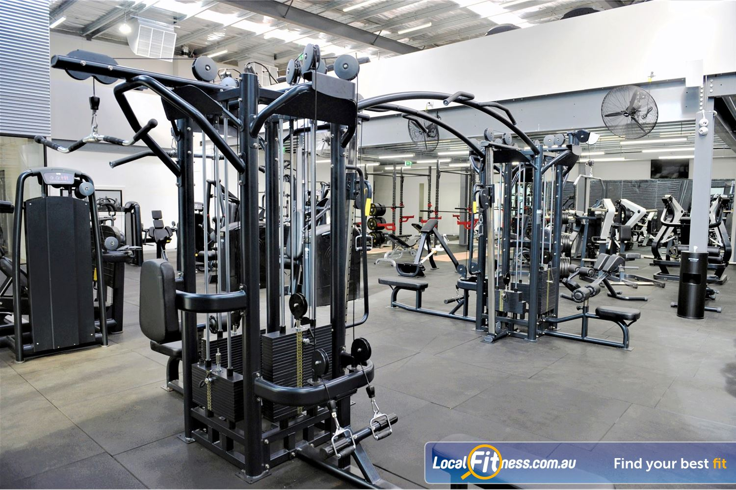 Weight of the World Fitness Altona North Our Altona gym includes popular multi-stations to work all your muscles.