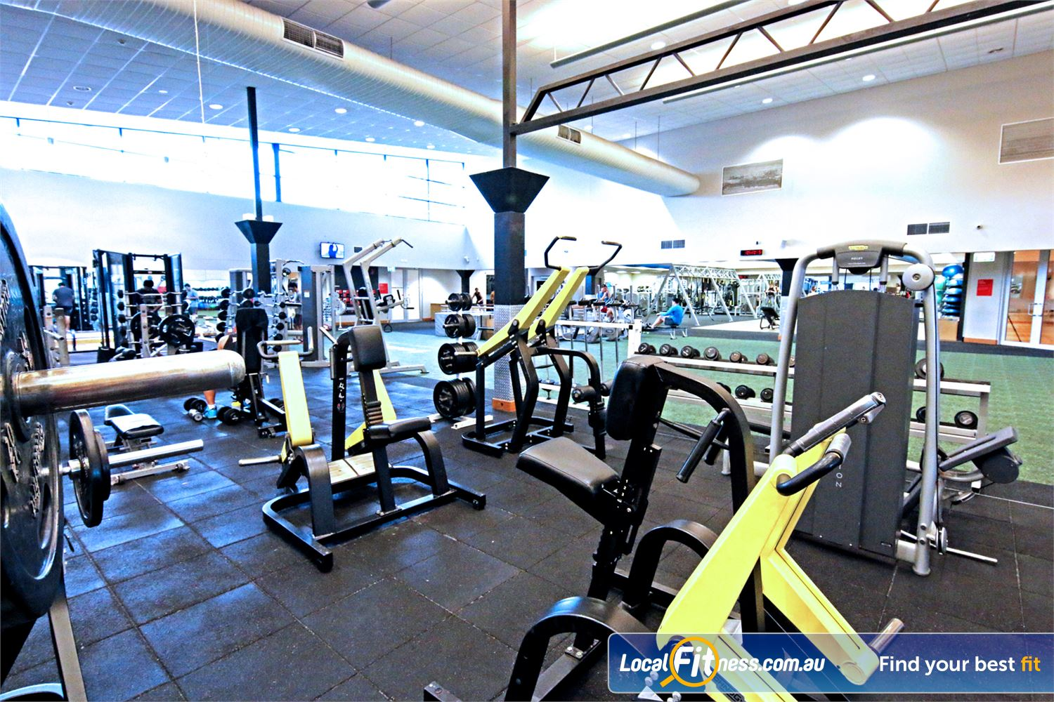 Fitness First Carindale Our Carindale gym is fully equipped for strength training.