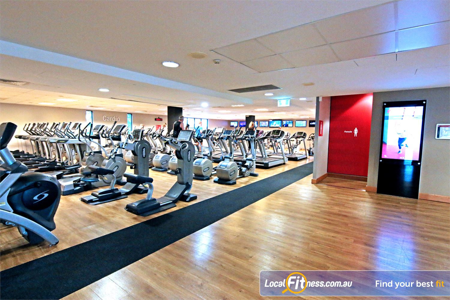 Fitness First Carindale The state of the art cardio theatre in our Carindale gym.