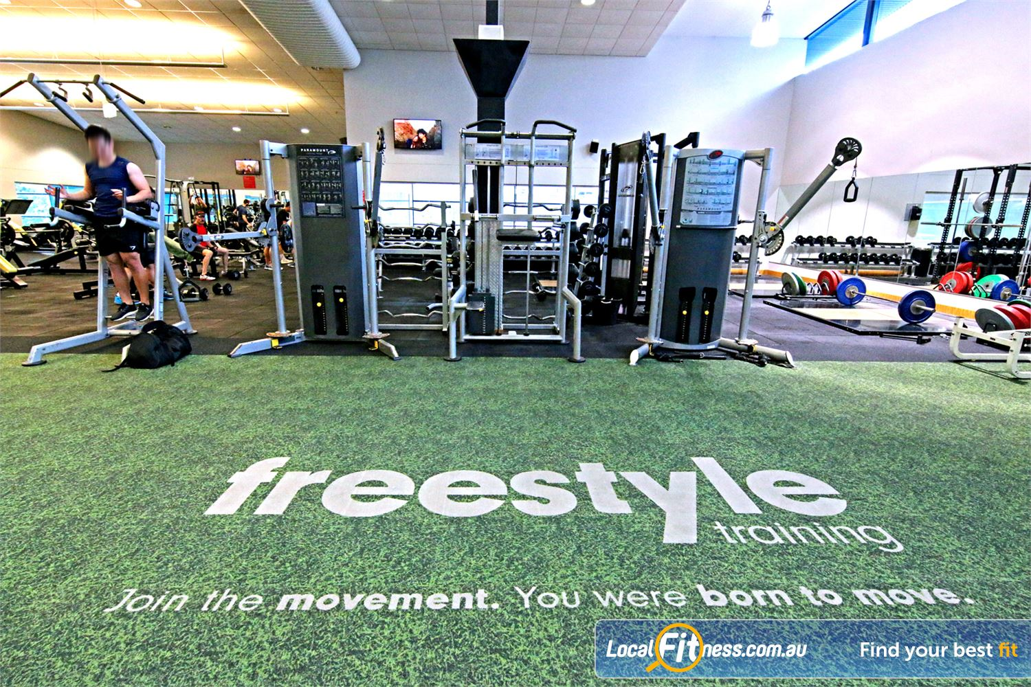 Fitness First Near Mackenzie The dedicated functional freestyle area at Fitness First Carindale.