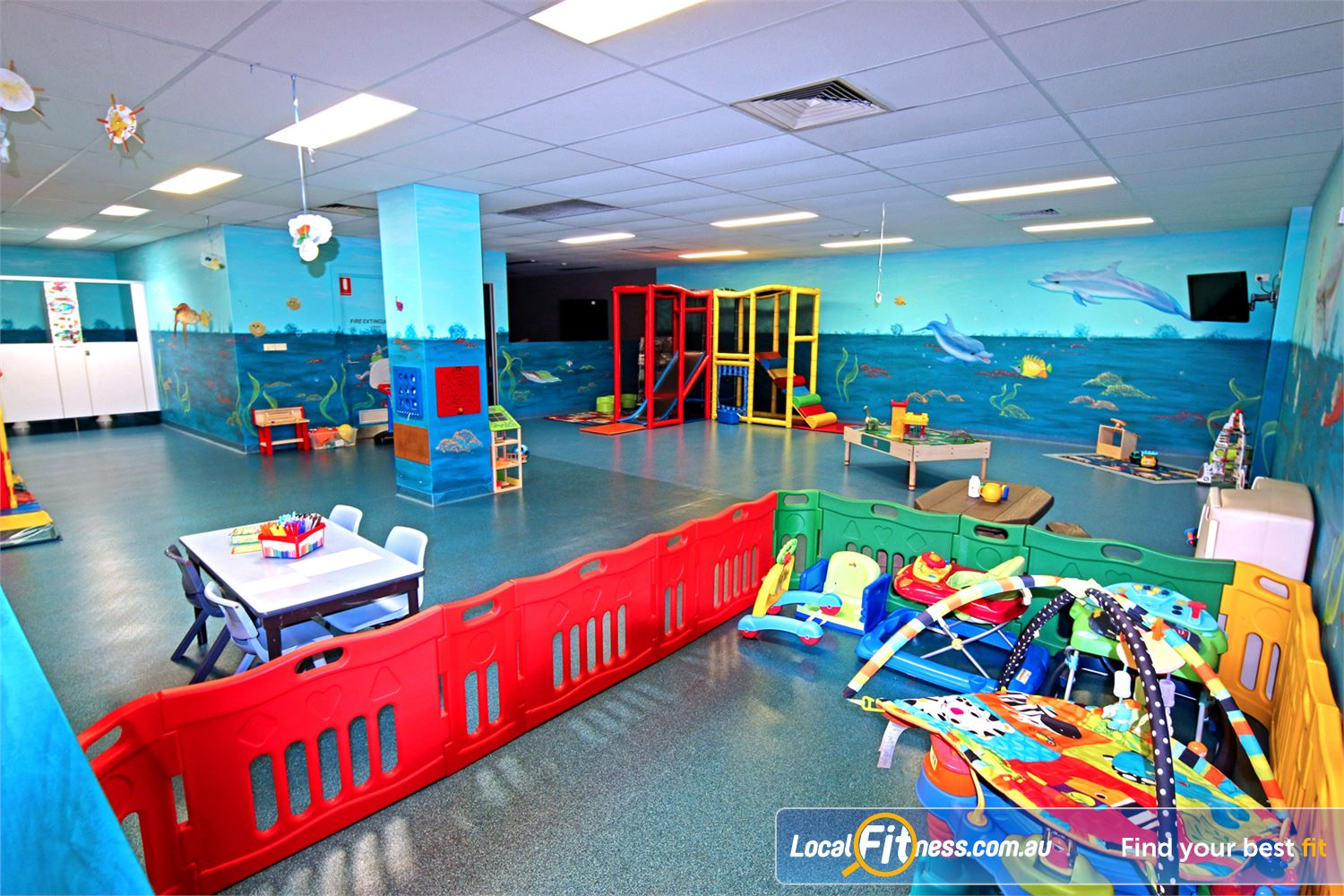Fitness First Carindale On-site Carindale creche services are all about helping parents.