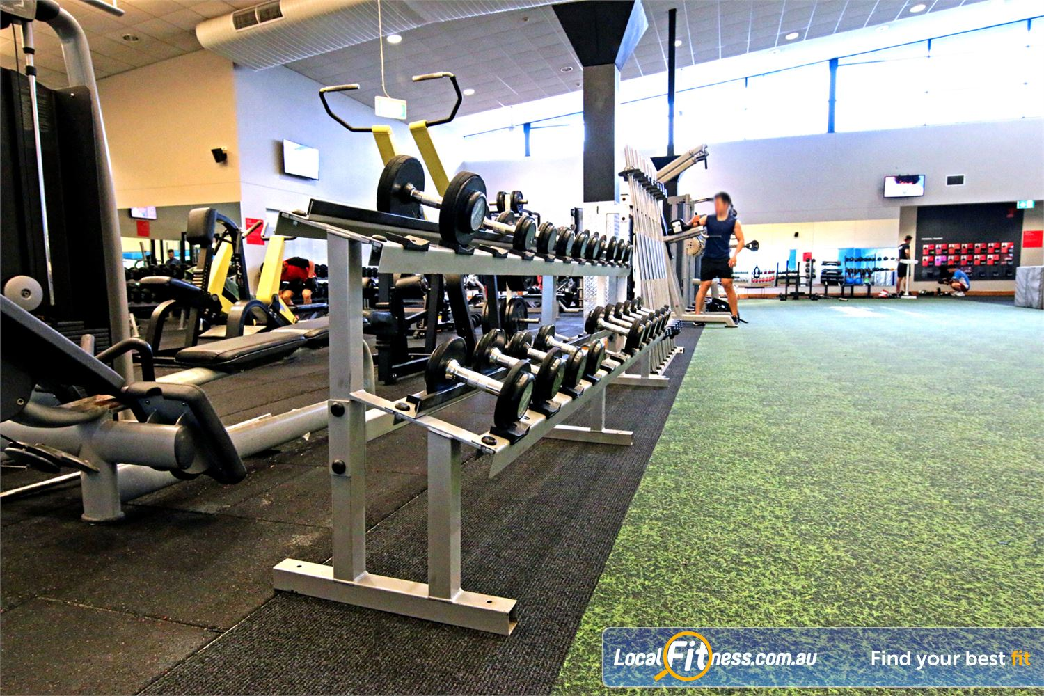 Fitness First Near Belmont Our Carindale gym is fully equipped with dumbbells, barbells and more.