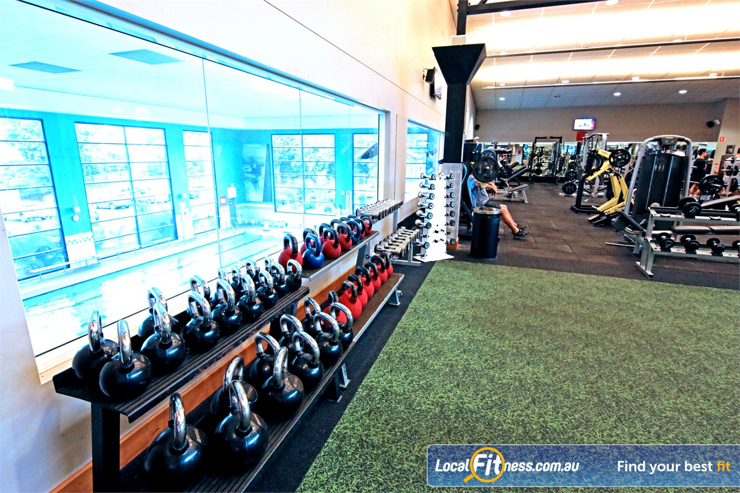 Fitness First Near Gumdale Get into freestyle and functional training with kettlebells, dumbbells and more.