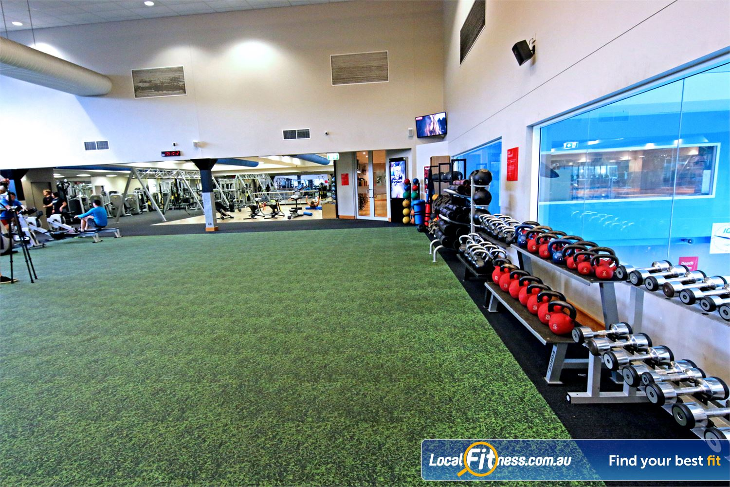 Fitness First Carindale The grass track in our freestyle functional training area.
