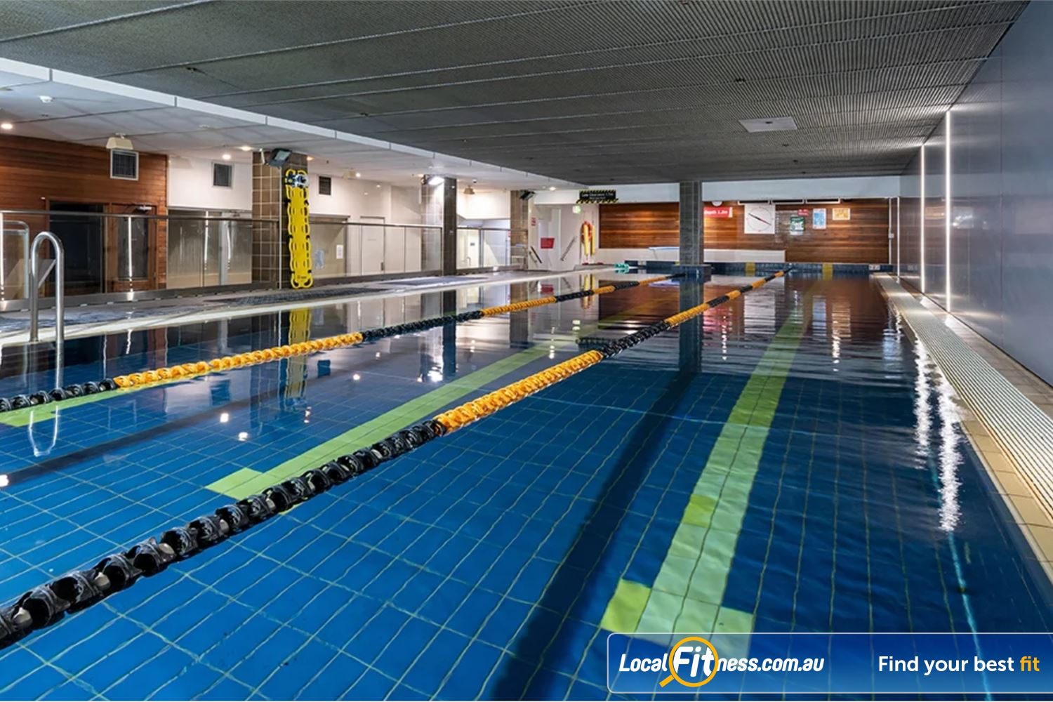 Fitness First Platinum George St. Near World Square Beautiful indoor Sydney swimming pool at Fitness First Platinum George St.