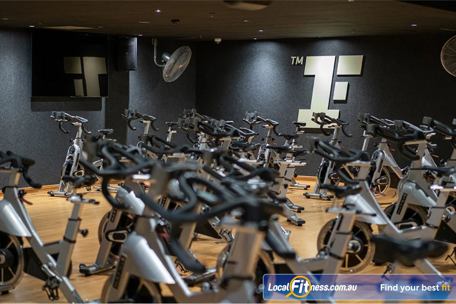 Fitness First Platinum George St. Sydney Dedicated indoor Sydney spin cycle studio with state of the art bikes.