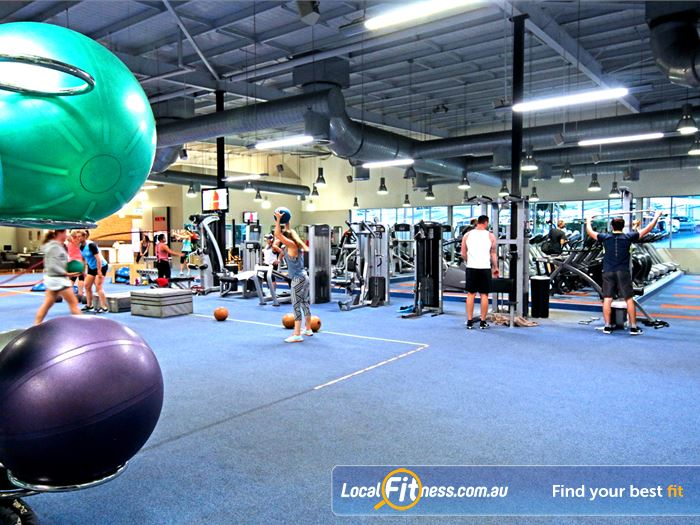 Fitness First Gym Carindale  | The spacious Wynnum gym floor is fully equipped