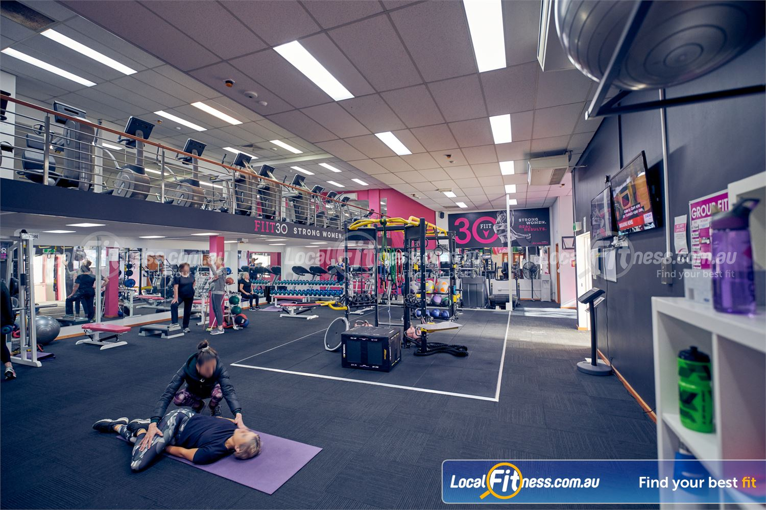 Fernwood Fitness Carlton Welcome to to the multi-level Fernwood Fitness Carlton women's gym.