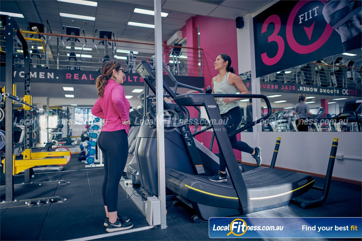 Fernwood Fitness Near Fitzroy Get a functional cardio workout with the Technogym Skillmill.